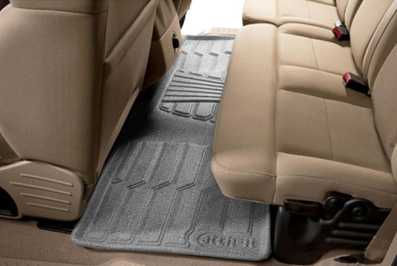 2011 Hyundai Santa Fe Catch-It Gray Carpet Rear Floor Mats