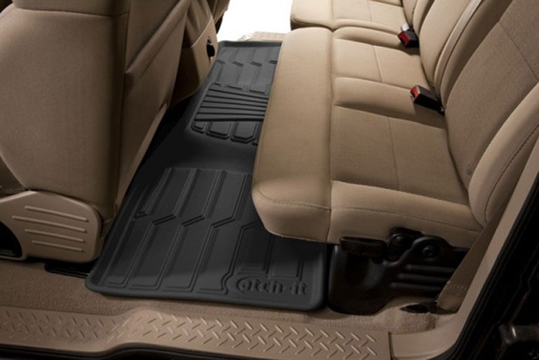 2011 Hyundai Santa Fe Catch-It Black Rear Floor Mats