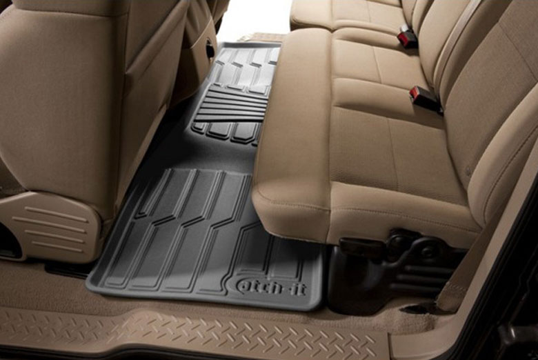 2011 Hyundai Santa Fe Catch-It Gray Rear Floor Mats