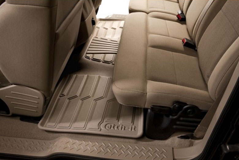 Catch-It Tan Rear Floor Mats
