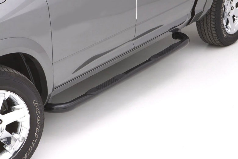 "2012 Ford  Explorer 3"" Curved Black Steel Round Side Steps (4 Door)"