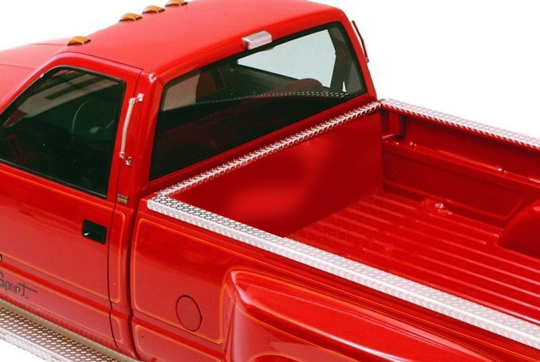 1997 Ford F-350 Diamond Plate Bed Rail Cap