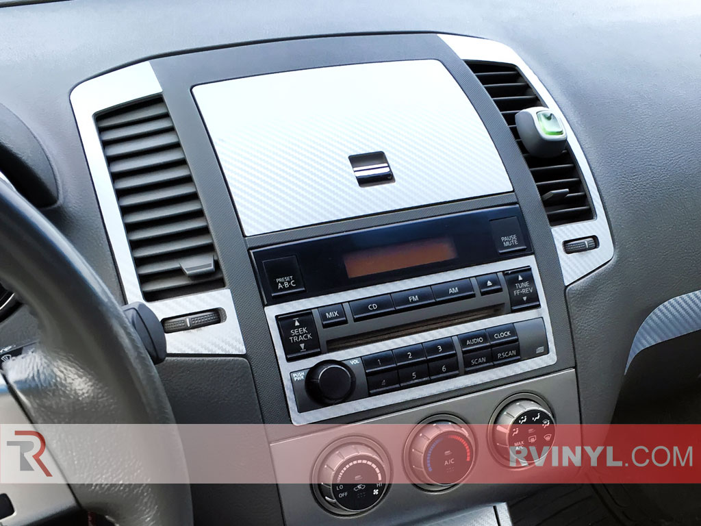 The 2005 Nissan Altima With An Rdash Silver Carbon Fiber Dash Kit