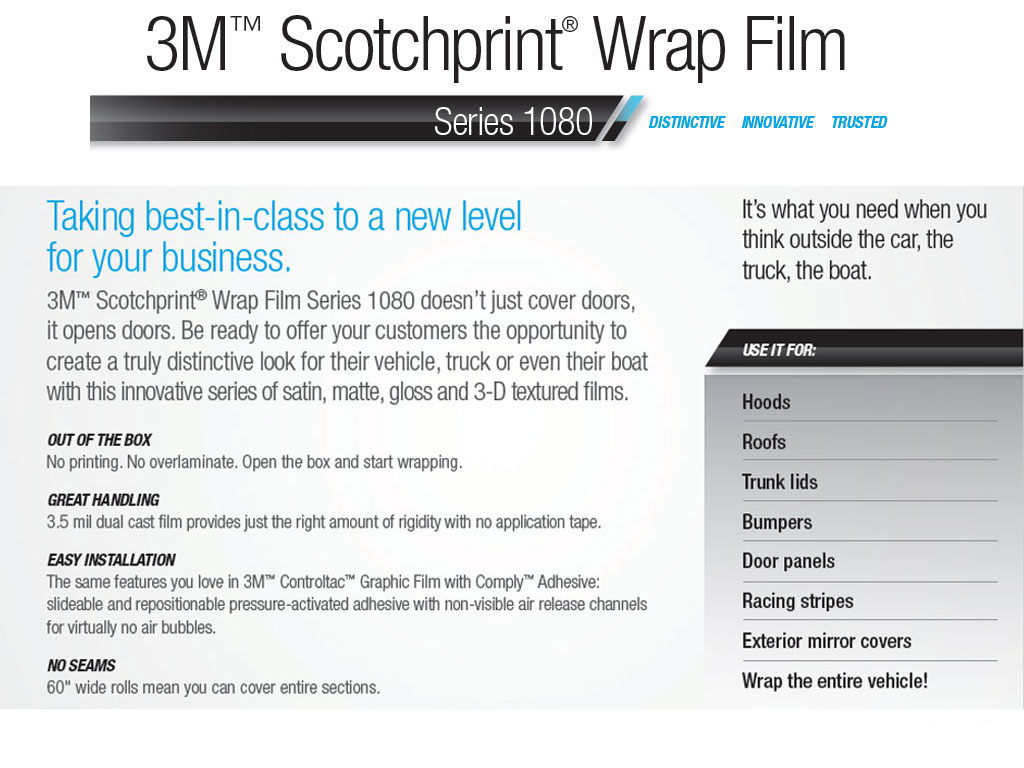 3M 1080 Pillar Post Wrap Features