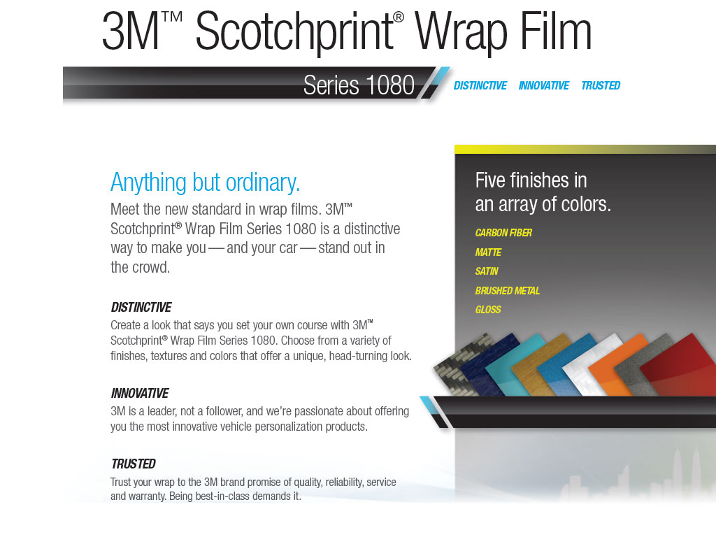 3M 1080 Scotchprint Pillar Post Finishes
