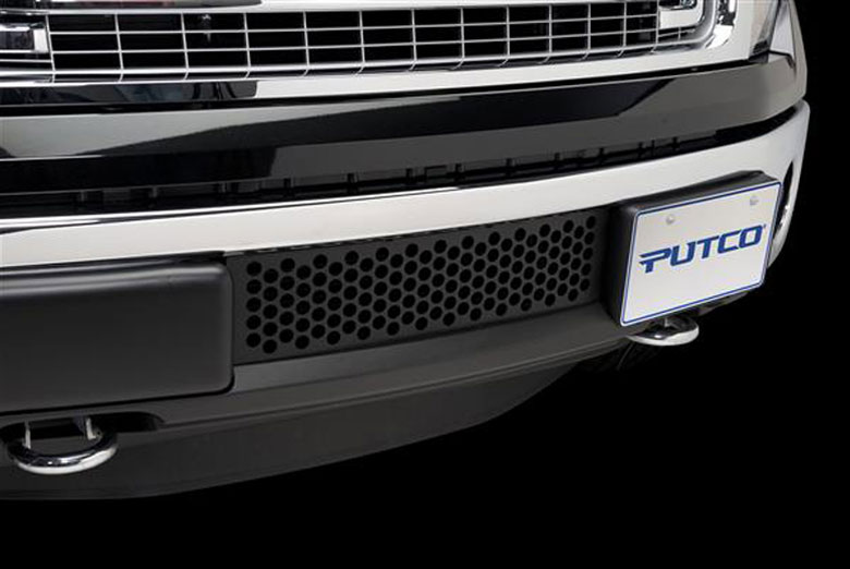 2013 Ford F-150 EcoBoost Bumper Black Punch Grille Inserts