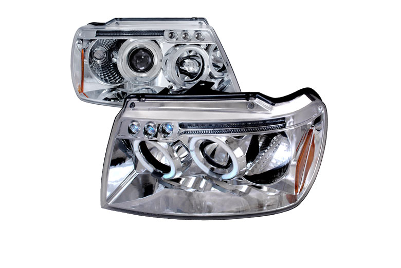Spec D Tuning® Jeep Grand Cherokee 1999 2004 Halo Chrome Projector  Headlights (Discontinued)
