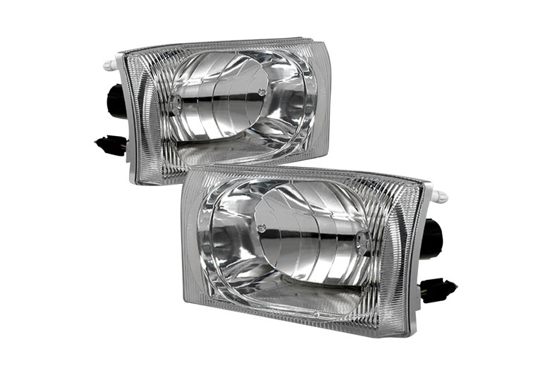 2002 Ford F-550 Aftermarket Headlights