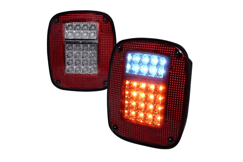 2002 Jeep Wrangler Aftermarket Tail Lights