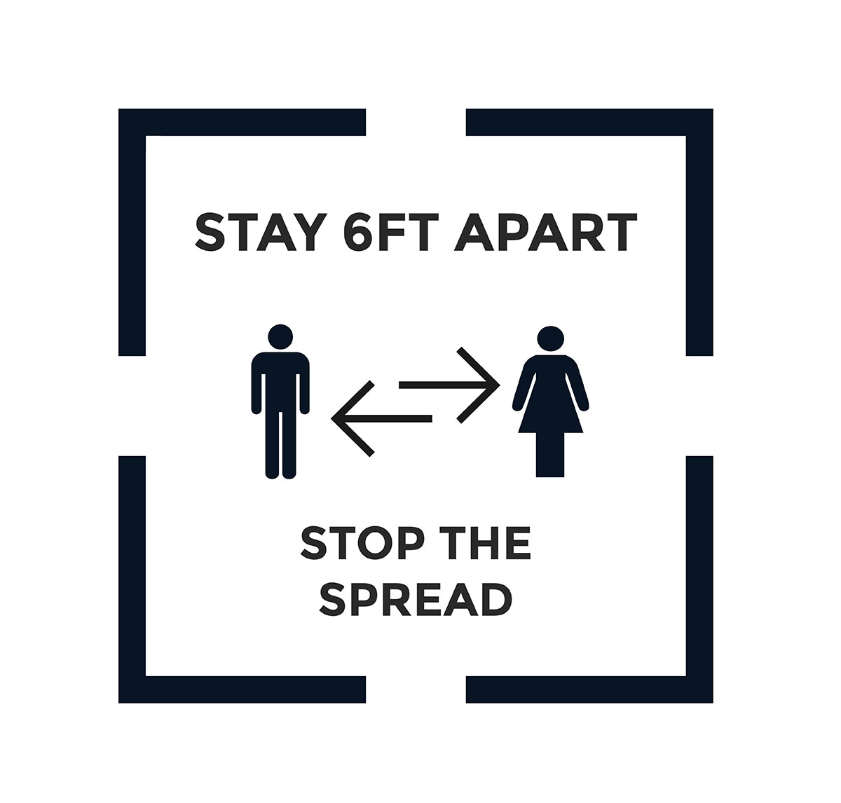 6 Feet Apart: Stay 6ft Apart Decal