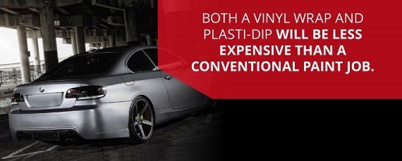 Vinyl wraps and plasti-dip are less expensive than a conventional paint job