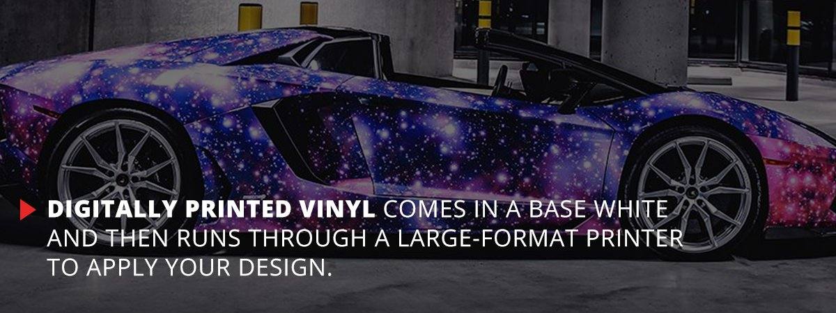 Digitally Printed Vinyl Comes In Base White