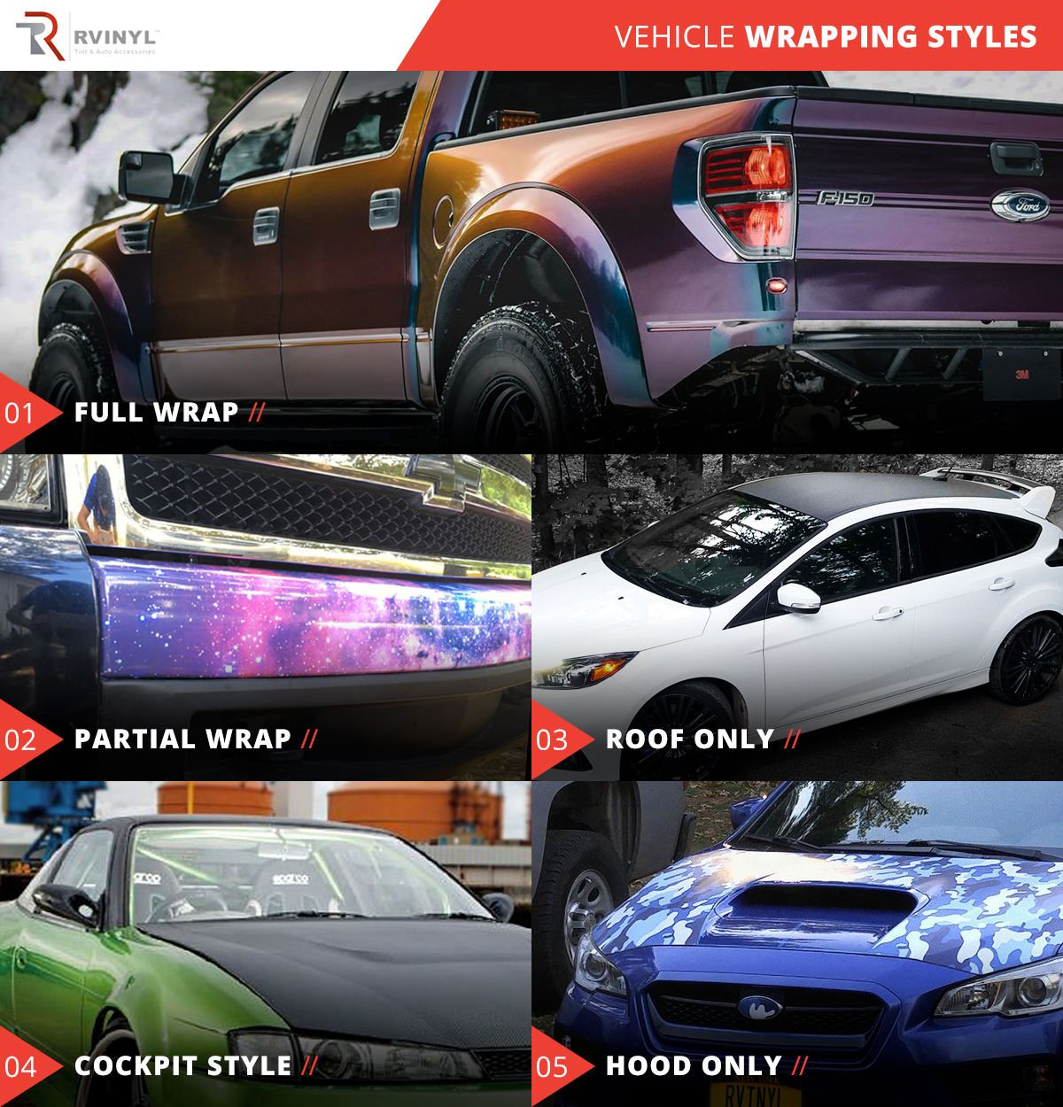 vehicle wrapping styles