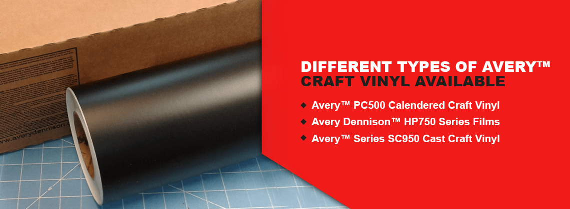 Different Types of Avery™ Craft Vinyl Available