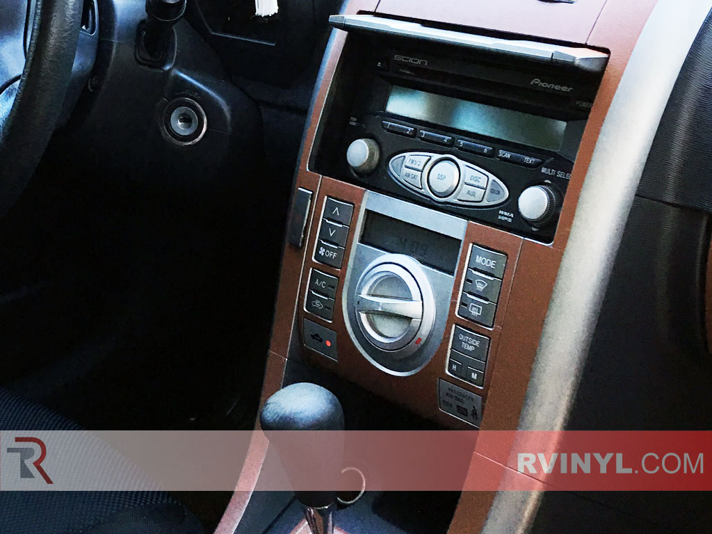 2007 Scion tC Brow Leather Dash Kit — Center Console