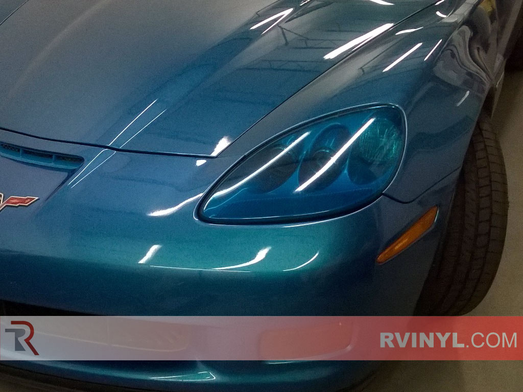 Joe's 2013 Chevy Corvette C6 with Rtint® Blue Smoke Headlight Covers