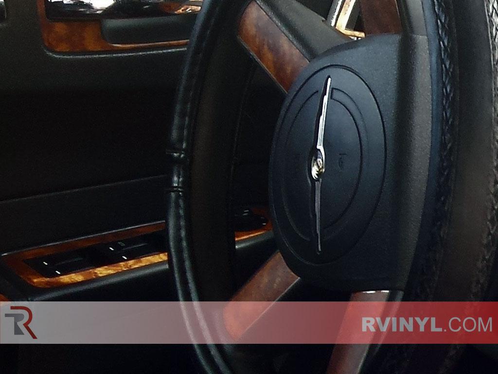 Steering Wheel Accents — Dark Burlwood 2008-2010 Chrysler 300 Rdash® Dash Kit