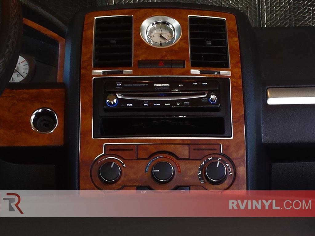 Analog Clock — Dark Burlwood 2008-2010 Chrysler 300 Rdash® Dash Kit