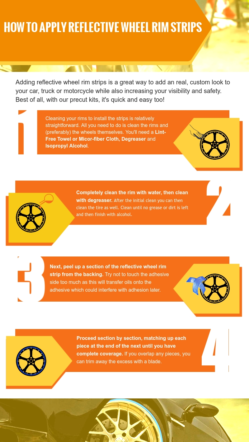 How to Apply Reflective Wheel Rim Strips   Wheel Strip Decals