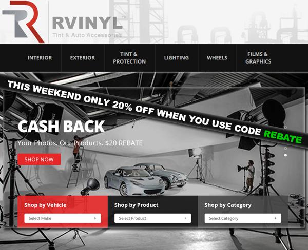 Rvinyl Instant $20 Cash Back Rebates