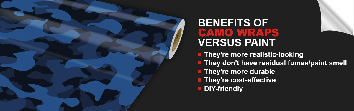 Benefits of Camo Wraps Versus Paint
