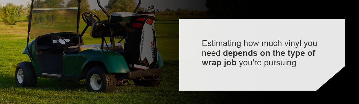 How Much Vinyl Do You Need to Wrap a Golf Cart?