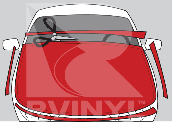 Roughly Trim Your Vinyl Wrap to Size