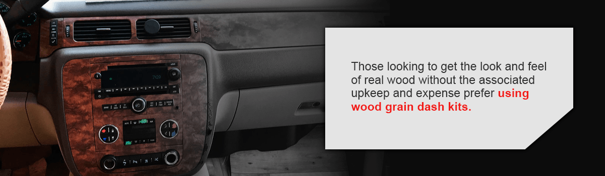 what are wood grain dash kits