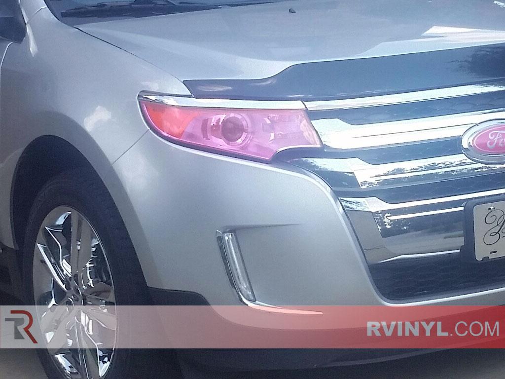 Ford Edge Headlight Tint In Pink Smoke