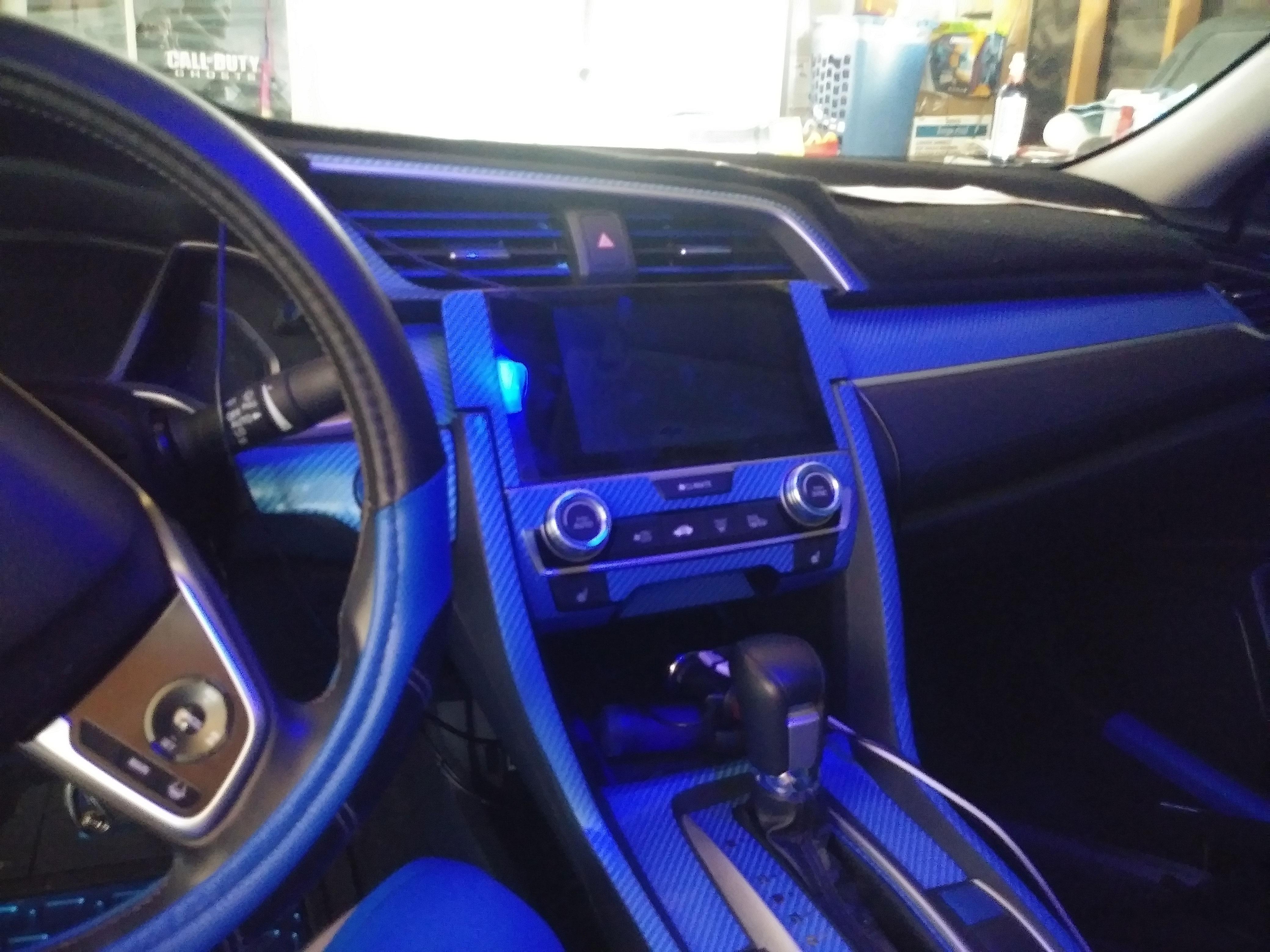 Rdash Dash Kit Honda Civic  Sedan 2016-2018 Auto Interior Decal Trim