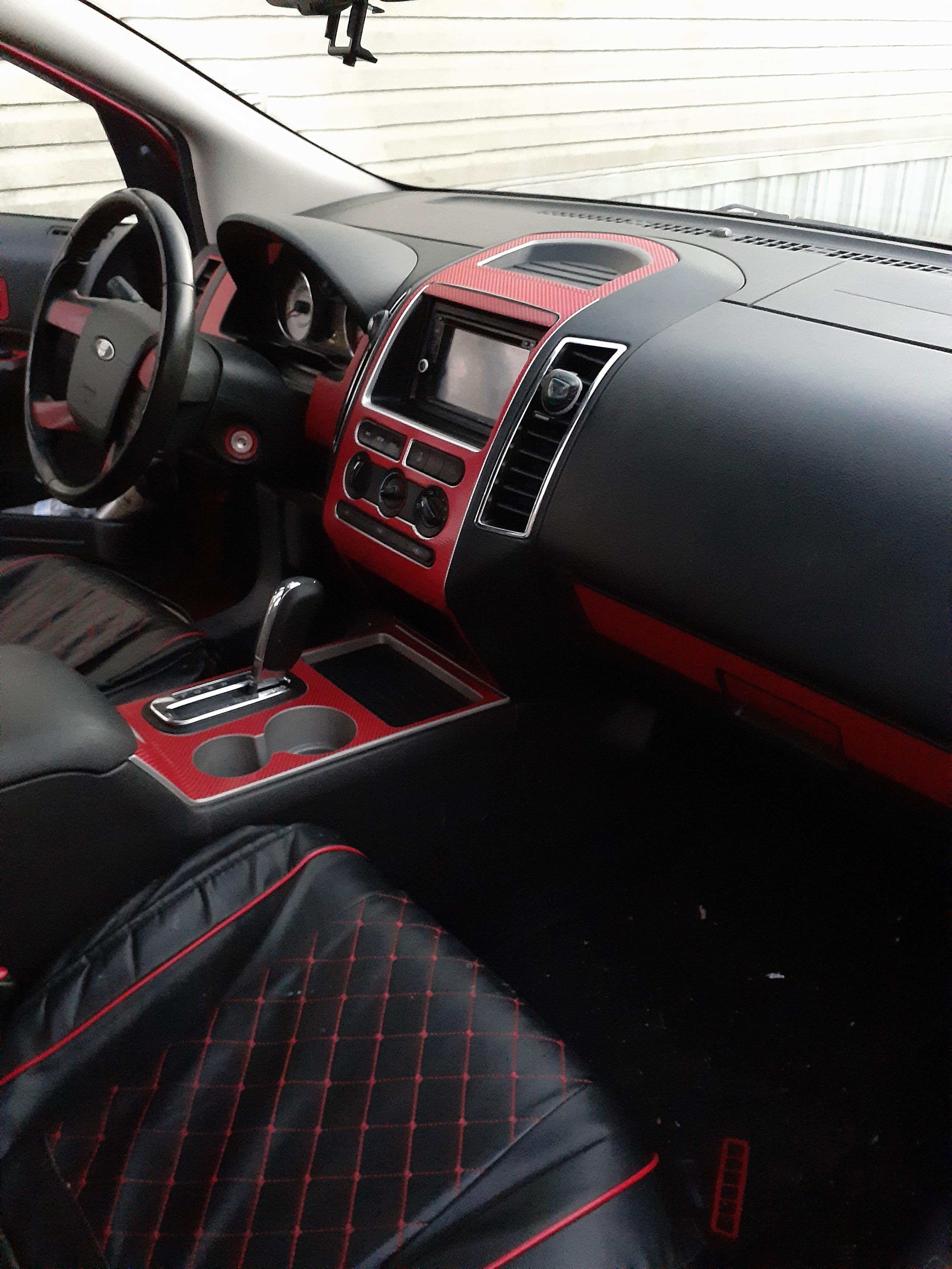 Aluminum Brushed Black Rvinyl Rdash Dash Kit Decal Trim for Ford Edge 2007-2008